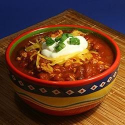Simple Turkey Chili Recipe and Video - Using ground turkey, canned kidney beans, and plenty of seasonings gives this simple and surprisingly light chili plenty of flavor. It's even better the second day!