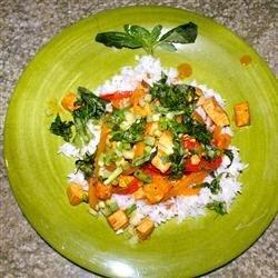 Lime Curry Tofu