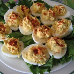 Di's Delicious Deluxe Deviled Eggs Recipe and Video - Creamy, zesty deviled eggs are always a favorite.