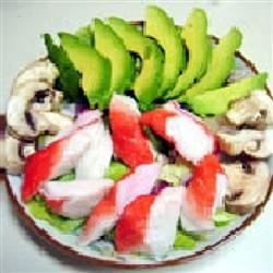 Crab Salad Recipe - Imitation crab salad with green pepper and onion. Works well as a spread for crackers or make it into a sandwich.