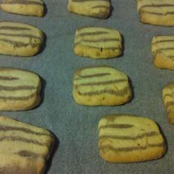 Zebra butter cookies