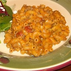 Macaroni and Cheese with Ground Beef, Salsa and Green Chiles Recipe - For a little more heat, follow the recipe for Creamy Macaroni & Cheese replacing the cheddar with pepper jack cheese.