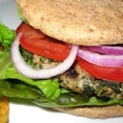 Spinach and Feta Turkey Burgers Recipe - These are a big hit in the summertime when everyone is tired of the same old hamburgers and hot dogs.