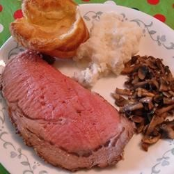 Prime Rib Au Jus with Yorkshire Pudding