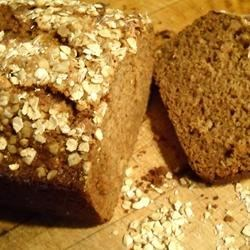 Apple Cinnamon Oatmeal Bread Recipe - Tender and chewy, with a light touch of cinnamon, this quick bread is perfect for a winter morning.