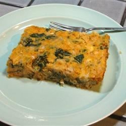 Egg and Spinach Casserole Recipe - This quick casserole is ready in just 1 hour.