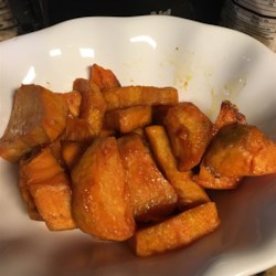 recipe: glazed sweet potatoes with brown sugar and lime [32]