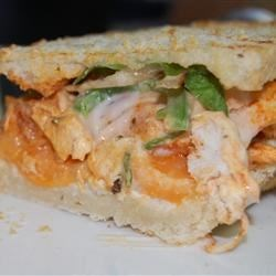 Spicy Buffalo Chicken & Blue Cheese Panini