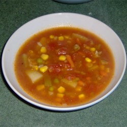 Hamburger Rice Soup Recipe - Very satisfying on a cold winter night. This soup has all the essentials, and it's quite delicious.