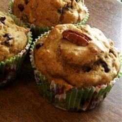 Dietetic Banana Nut Muffins Recipe - These muffins have no sugar and no fat, but are moist and tasty.  Instead of regular applesauce, I sometimes use mango-peach to give the muffins more flavor.  Great recipe for diabetics! You can use all white flour instead the whole wheat flour, too.