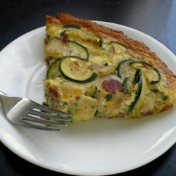 Mom's Zucchini Pie Recipe - A quick and yummy combination of zucchini, refrigerated crescent rolls, and eggs -- tastes like you spent hours in the kitchen!