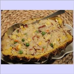 Pineapple Baked Rice--Main Course for Lunar Chinese New Year