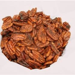 Sweet and Spicy Pecans Recipe - In this recipe, pecans are sweetened by soaking them in a simple syrup and then coated with sugar, chili powder, and cayenne pepper before being roasted for a delicious sweet and spicy snack or salad topping.