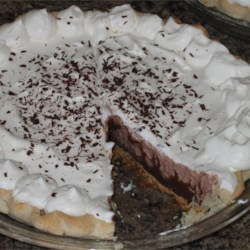 Krissy's Easy Chocolate Triple Layer Pie Recipe - This is the best and easiest chocolate pie ever. There never are any leftovers!