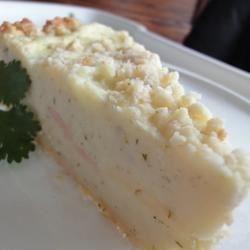 Savory Triple Cheese Potato Cake with Ham