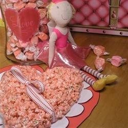 Valentine's Taffy Popcorn Heart