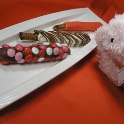 Taffy Valentine's Day Pretzels