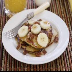 2-Ingredient Wheat-Free Banana Pancakes (Paleo) Recipe and Video - These wheat-free and gluten-free pancakes are only 2 ingredients, are paleo-friendly, and will be a winner with your kids!