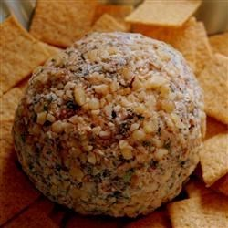 Spinach Cheese Ball Recipe - This recipe is a take off of the popular spinach dip, however in a different form. This is a great addition to your holiday open house table.