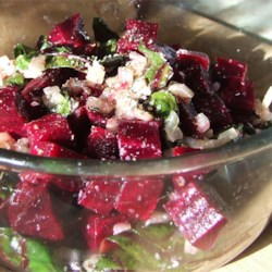 Roasted Beets and Sauteed Beet Greens Recipe and Video - This is a great way to use every part of the fresh beets you buy.  You can get two delicious side dishes out of this one vegetable.
