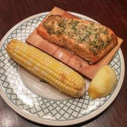 Back to Cedar Plank-Grilled Salmon with Garlic, Lemon and Dill recipe