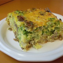 Breakfast Casserole III Recipe - Eggs, sausage, potatoes, cheese - it's a hearty breakfast prepared in a single dish!