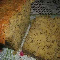 Moist Lemon Poppy Seed Cake Recipe - This cake is so rich and moist you will want to make many batches. It's great for gift giving! This cake will last one week at room temperature or in the refrigerator and it freezes well. Try it sliced and toasted!