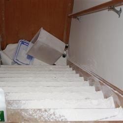 Flour spill
