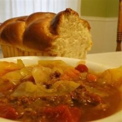 Sweet Russian Cabbage Soup Recipe and Video - This is a simple recipe for a wonderful rich cabbage soup.