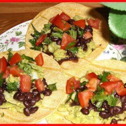 Avocado Tacos with Black Beans