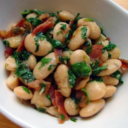 Chef John's Rocket Beans Recipe and Video - Tender butter beans, crisp bacon, and peppery arugula combine in an earthy, rustic side dish that's ready to go in just a few minutes.