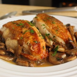 Chef John's Chicken and Mushrooms Recipe and Video - Succulent chicken breasts topped with perfectly sauteed mushrooms create a delicious, yet very simple, dish.
