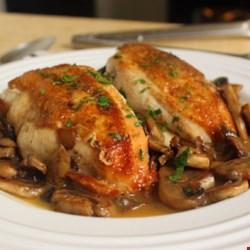Mushroom chicken baked recipe