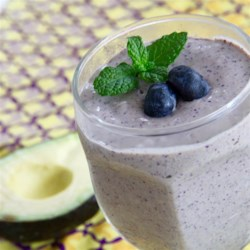 Avocado Blueberry Smoothie Recipe - This five-ingredient smoothie uses only blueberries, avocado, yogurt, almond milk, and water.