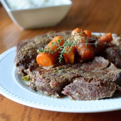Easy Pressure Cooker Pot Roast Recipe - VERY tender and delicious. Using the pressure cooker saves SO much time that this recipe can be used on a weekday and still you can manage to eat dinner at a decent hour.