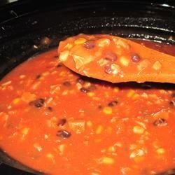 My Sister Alicia's slow cooker Taco Soup