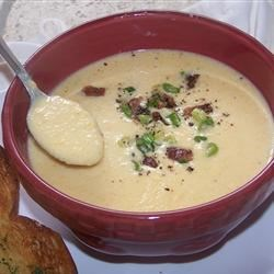 Dark Beer Cheese Soup Recipe - This thick and creamy soup warms the soul when served with whole wheat bread and a good salad on a cold winter day.