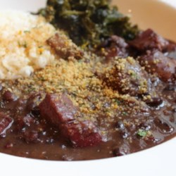 Chef John's Brazilian Feijoada Recipe and Video - This traditional Brazilian bean stew is cooked with lots of smoked meats for a rich, hearty meal. Serve with white rice and greens.