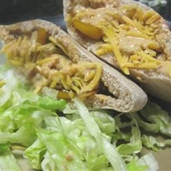 Southwestern Chicken Pitas with Chipotle Sauce