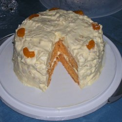 Orange Sunshine Cake Recipe - Orange cake with pineapple frosting - perfect for spring!
