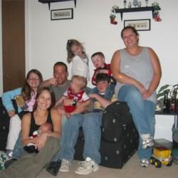 The whole crew (plus Piper, the nanny)