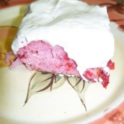 Strawberry Refrigerator Cake Recipe - This cool summer poke cake is made with a strawberry cake mix, strawberry puree, vanilla pudding mix, and whipped topping. Allow it to chill at least 4 hours before serving.