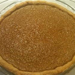 Brown Sugar Pie I Recipe - Something magical happens to brown sugar when it melts and bubbles and bakes. This pie is a testament to that. It 's creamy, sweet and a cinch to make.