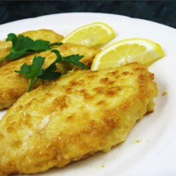 Chicken Piccata II Recipe - Lemon in both breading and sauce makes an especially flavorful meal.