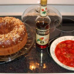 Rum Cake I Recipe - A moist nutty cake with the deep flavor of dark rum.