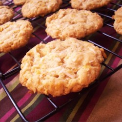 Chewy Crispy Coconut Cookies Recipe - Crispy, chewy, coconut, oatmeal, cornflake cookies. Wow are these good!