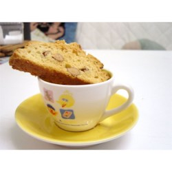 D'Amaretti Biscotti Recipe - Toasted almond and lemon zest biscotti for any occasion. Try these variations: Use 1/2 teaspoon of either vanilla or anise extract instead of the almond extract; substitute chopped filberts for almonds; toss in half a cup of mini semi-sweet chocolate chips.