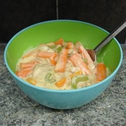 Creamed Carrot Strips