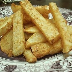 Crispy Turnip 'Fries' Recipe - My daughters and I are on a low-carb diet and were looking for something to curb our 'French fry' cravings. I've heard that turnips can be made into some great 'fries.' I experimented with it and came up with this. You can add whatever spices you'd like.