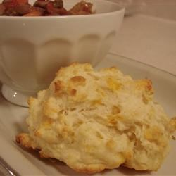 Cheese Drop Biscuits Recipe - These easy to make drop biscuits will add flavor to any meal.